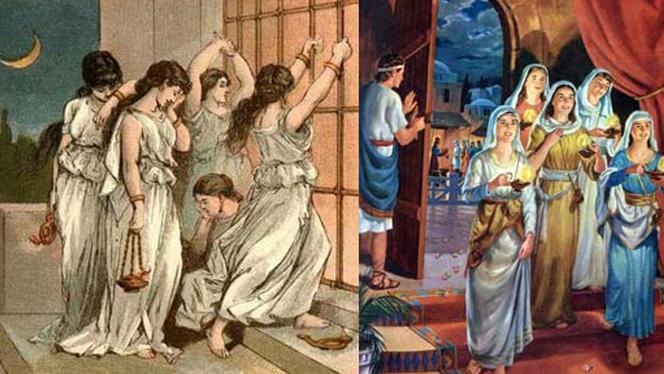 MÉDITATIONS CHRÉTIENNES POUR TOUTE L`ANNÉE - Pere Buse`e - Cie de Jésus - année 1708 Bhthe-wise-and-foolish-virgins